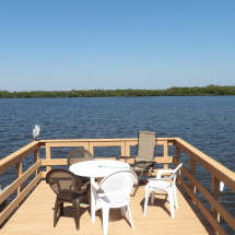Your Own waterfront deck On RV Rental Hutchinson Island